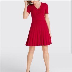 Red Draper James Bow knit dress NWT